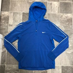 Men's Nike dri fit hooded running pullover top